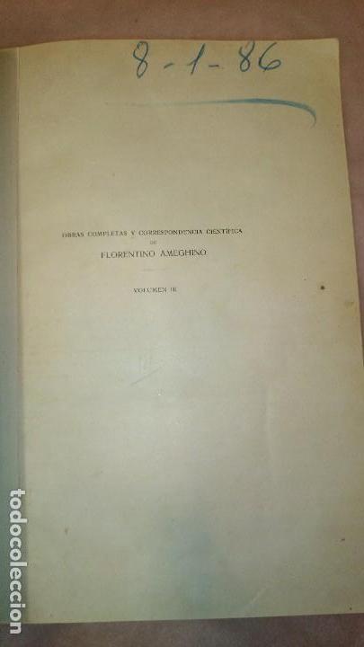 Libros antiguos: LA ANTIGUEDAD DEL HOMBRE EN LA PLATA,FLORENTINO AMEGHINO - Foto 3 - 69427997