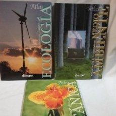 Libros antiguos: LOTE DE ATLAS ECOLOGÍA , BOTÁNICA , MEDIO AMBIENTE - EDITA CULTURAL . Lote 70260997
