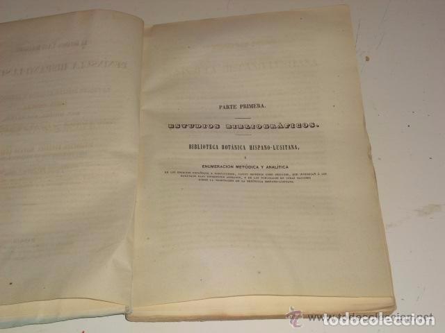 Libros antiguos: LA BOTÁNICA Y LOS BOTÁNICOS DE LA PENÍNSULA HISPANO-LUSITANA AÑO 1858 MIGUEL COLMEIRO 1ª EDICIÓN - Foto 3 - 71761563