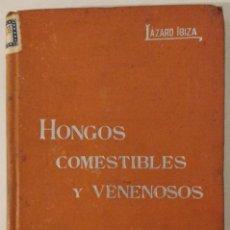 Libros antiguos: HONGOS COMESTIBLES Y VENENOSOS. B. LAZARO IBIZA. 1900-1920. Lote 71960631