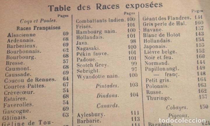 Libros antiguos: 49e Exposition Internationale d'Aviculture a Paris 1924 Palmarès Catalogue TBE avicultura - Foto 5 - 72802595
