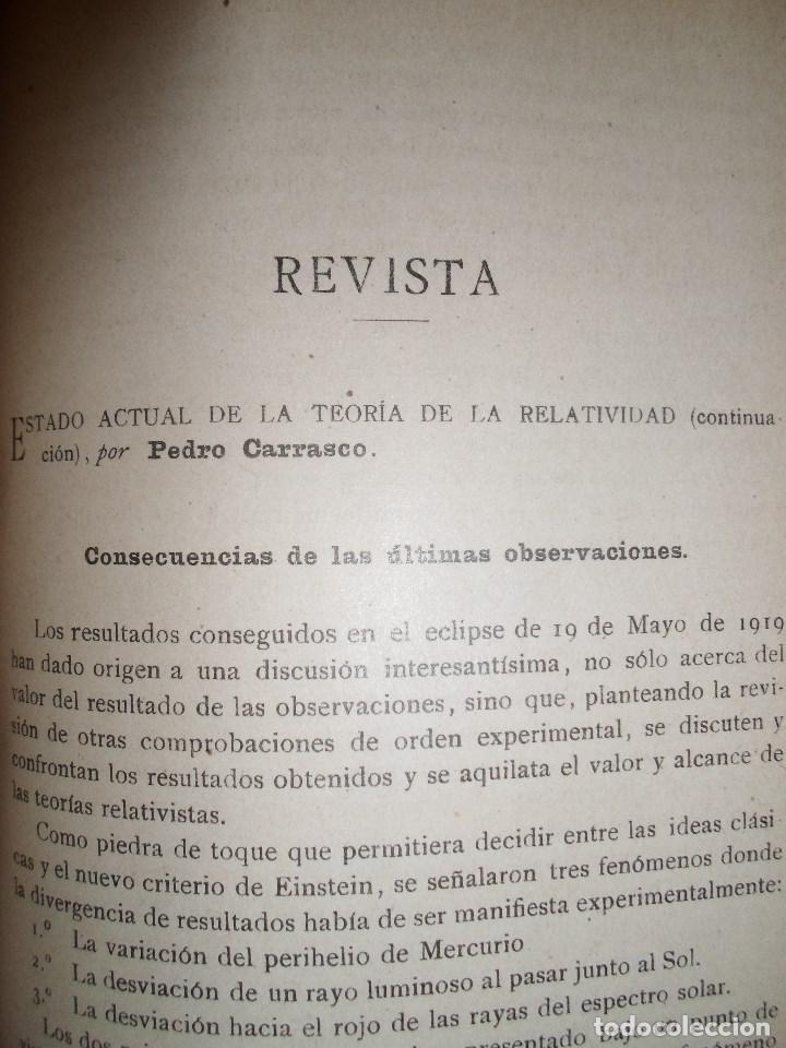 Libros antiguos: ANALES DE LA S.E. DE FISICA Y QUIMICA TOMO XVIII DE 1920- IMPRENTA DE EDUARDO ARIAS- MADRID - Foto 8 - 73549811