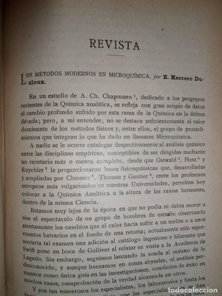 Libros antiguos: ANALES DE LA S.E. DE FISICA Y QUIMICA TOMO XVIII DE 1920- IMPRENTA DE EDUARDO ARIAS- MADRID - Foto 12 - 73549811