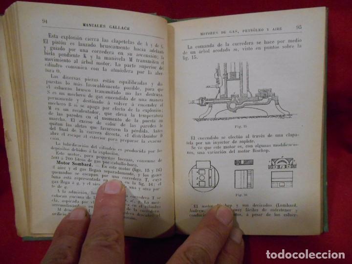 Libros antiguos: RICARDO YESARES. MOTORES DE GAS, PETRÓLEO Y AIRE- MANUAL GALLACH Nº51 - - Foto 3 - 74093379