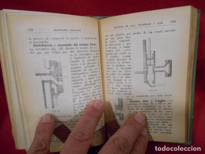 Libros antiguos: RICARDO YESARES. MOTORES DE GAS, PETRÓLEO Y AIRE- MANUAL GALLACH Nº51 - - Foto 4 - 74093379