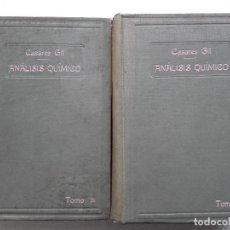Libros antiguos: TRATADO DE ANALISIS QUIMICO. DOS TOMOS. JOSE CASARES GIL - 1916-1913 - QUIMICA. Lote 74188695