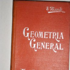 Libros antiguos: MANUALES SOLER GEOMETRIA GENERAL. Lote 74199671