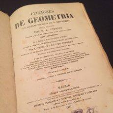 Libros antiguos: LIBRO LECCIONES DE GEOMETRÍA DE P. L. CIRODDE. 1877. Lote 75067735