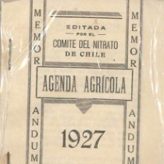 Libros antiguos: AGENDA AGRICOLA 1927. Lote 75201287