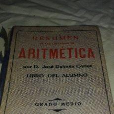 Libros antiguos: LIBRO ARITMÉTICA. Lote 77784727
