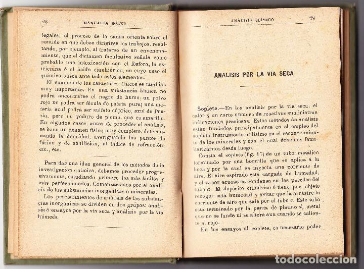Libros antiguos: ANALISIS QUIMICO XIX - TRATADO ELEMENTAL - J CASARES Y GIL - MANUALES GALLACH - Foto 4 - 78329109
