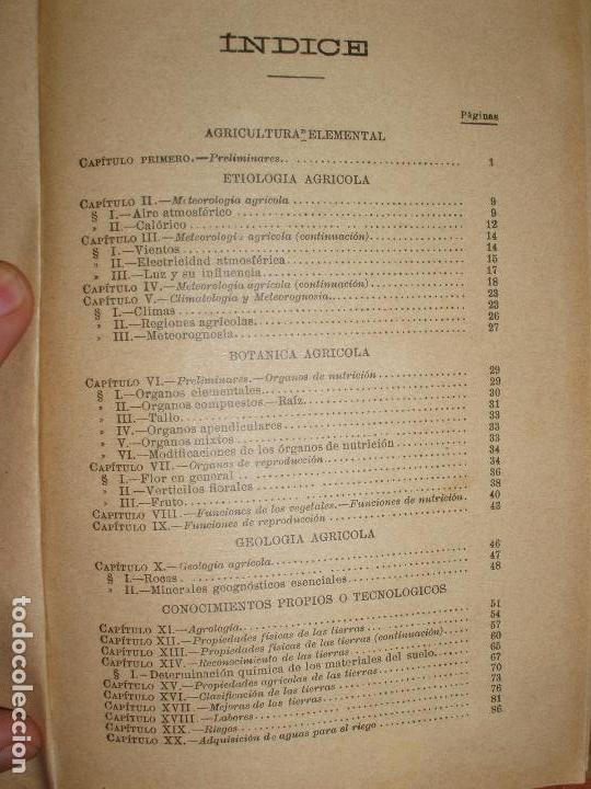 Libros antiguos: TRATADO DE AGRICULTURA ELEMENTAL + PROGRAMA DEL CURSO. FEDERICO REQUEJO Y MARIANO TORTOSA. 1901 - Foto 7 - 78341521