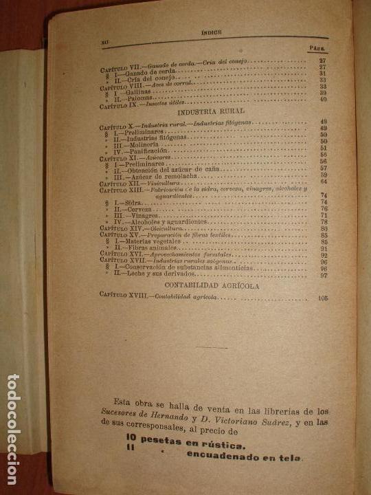 Libros antiguos: TRATADO DE AGRICULTURA ELEMENTAL + PROGRAMA DEL CURSO. FEDERICO REQUEJO Y MARIANO TORTOSA. 1901 - Foto 9 - 78341521