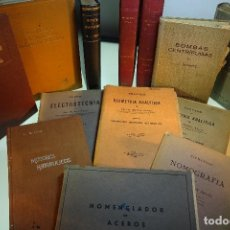 Libros antiguos: GRAN LOTE DE 13 LIBROS SOBRE DIVERSOS TEMAS CIENTÍFICOS - CON MUCHOS APUNTES - FÍSICA - MATEMÁTICAS . Lote 79106557