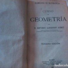 Libros antiguos: ELEMENTOS DE MATEMÁTICAS: CURSO DE GEOMETRÍA (MADRID, 1921). Lote 79508905