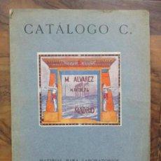 Libros antiguos: CATÁLOGO C. MATERIAL PARA LABORATORIOS MATERIAL DE ENSEÑANZA MICROSCOPIA. 1924.. Lote 80500413