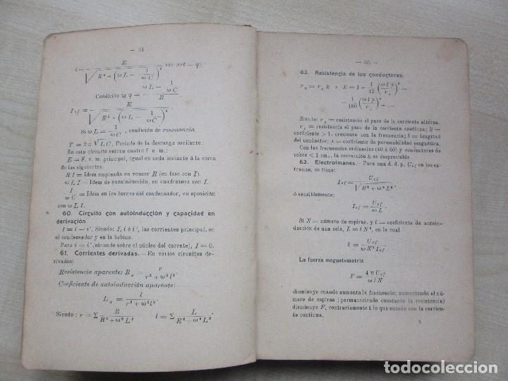 Libros antiguos: Practicas de mediciones eléctricas .Medidas y verificaciones Francisco del Rio Joan 1913 - Foto 3 - 80865403