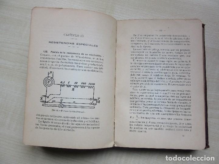 Libros antiguos: Practicas de mediciones eléctricas .Medidas y verificaciones Francisco del Rio Joan 1913 - Foto 5 - 80865403