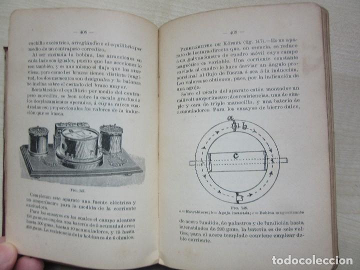 Libros antiguos: Practicas de mediciones eléctricas .Medidas y verificaciones Francisco del Rio Joan 1913 - Foto 8 - 80865403
