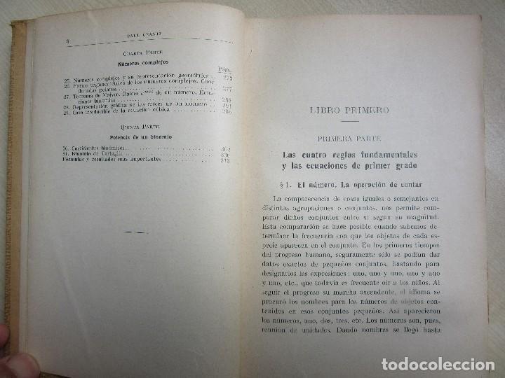 Libros antiguos: Aritmética y Algebra Paul Crantz Editorial Labor 1932 - Foto 5 - 159367230