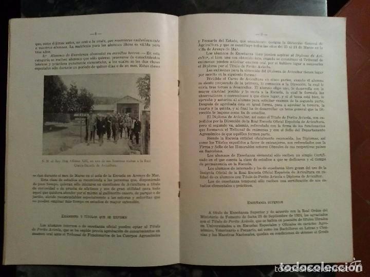Libros antiguos: PROGRAMA INICIAL DE LA, REAL ESCUELA OFICIAL ESPAÑOLA DE AVICULTURA, de Arenys de Mar DEL AÑO 1930.c - Foto 4 - 81564376