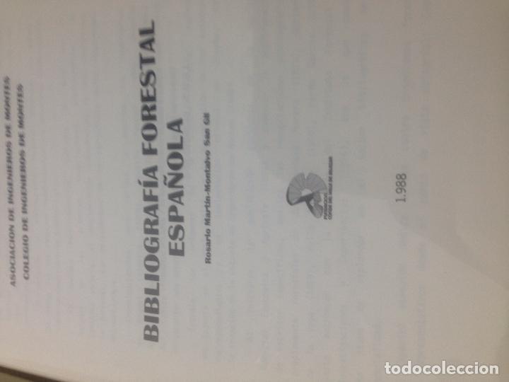 Libros antiguos: Bibliografia forestal española - Foto 3 - 82058700