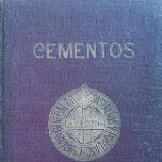 Libros antiguos: CEMENTOS. COMPAÑIA GENERAL DE ASFALTOS Y PORTLAND. ASLAND. BARCELONA. 1920. Lote 84183796