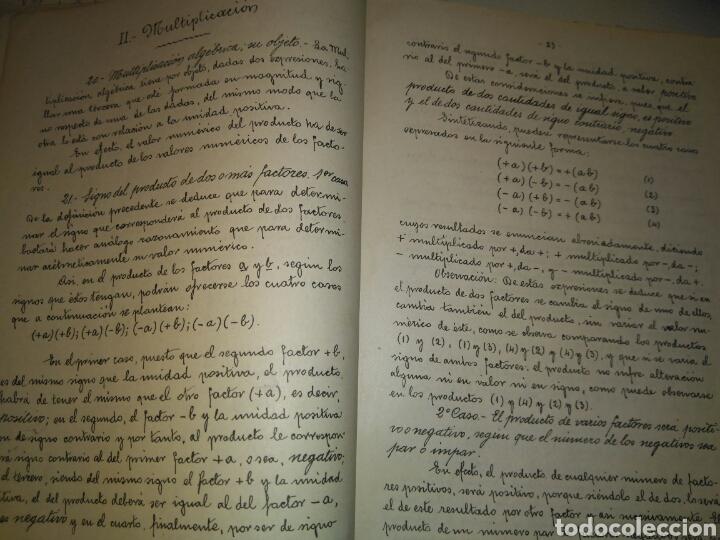 Libros antiguos: APUNTES DE ELEMENTOS DE ALGEBRA- J.BUSQUETS GORINA. FECCHADO 1917. PRIMERA EDICION. LETRA ENLAZADA. - Foto 6 - 84450058