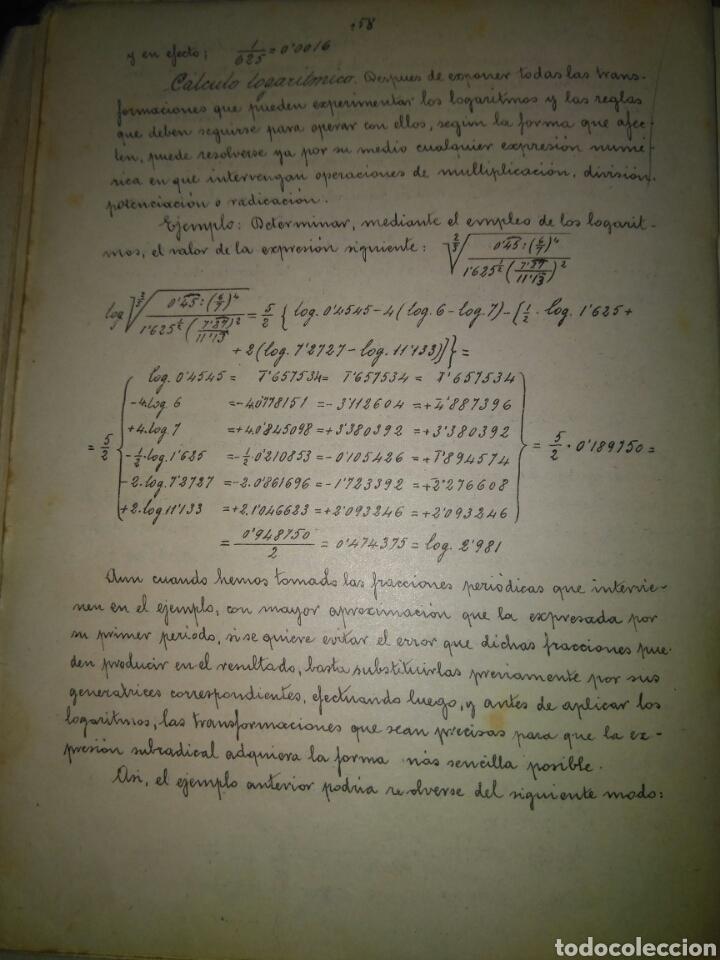 Libros antiguos: APUNTES DE ELEMENTOS DE ALGEBRA- J.BUSQUETS GORINA. FECCHADO 1917. PRIMERA EDICION. LETRA ENLAZADA. - Foto 8 - 84450058
