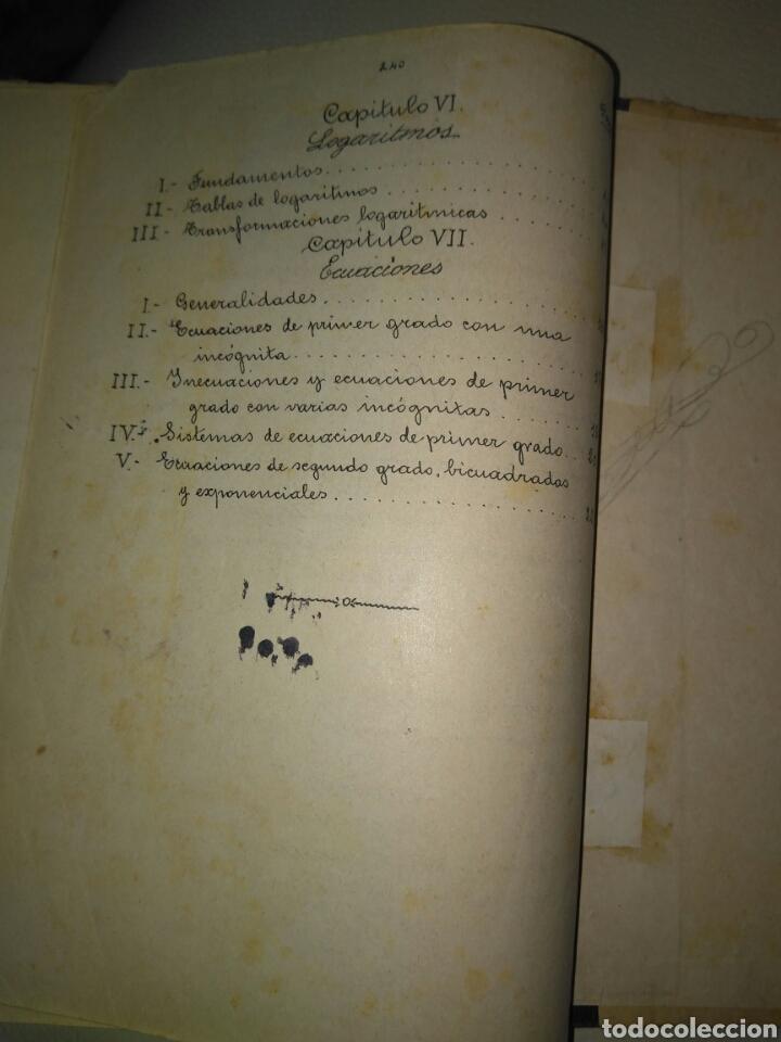 Libros antiguos: APUNTES DE ELEMENTOS DE ALGEBRA- J.BUSQUETS GORINA. FECCHADO 1917. PRIMERA EDICION. LETRA ENLAZADA. - Foto 10 - 84450058