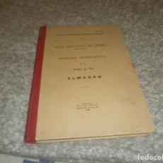 Libros antiguos: MAPA GEOLÓGICO DE ESPAÑA ALMAGRO INSTITUTO GEOLÓGICO Y MINERO DE ESPAÑA MEMORIA EXPLICATIVA 1935. Lote 85219660