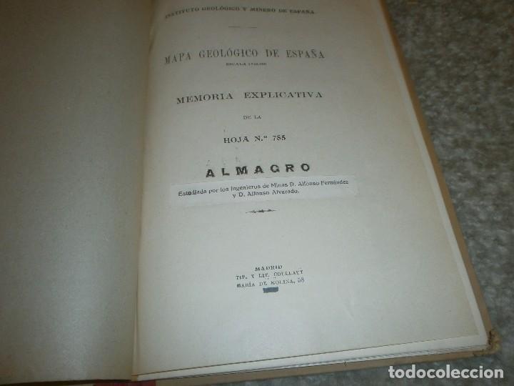 Libros antiguos: Mapa geológico de España Almagro Instituto Geológico y minero de España Memoria Explicativa 1935 - Foto 2 - 85219660
