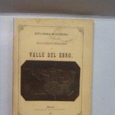 Libros antiguos: RECONOCIMIENTO HIDROLOGICO DEL VALLE DEL EBRO (1865). Lote 85605784