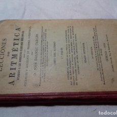 Libros antiguos: LECCIONES DE ARITMETICA 1918-JOSÉ DALMAU CARLES-LIBRO DEL ALUMNO - 1ª PARTE. Lote 85869000