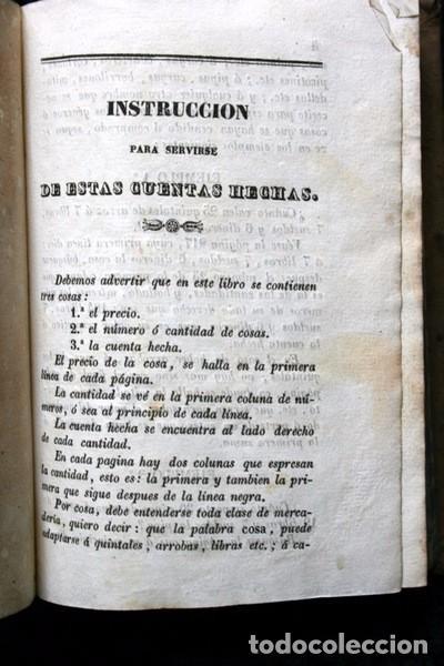 Libros antiguos: NUEVAS CUENTAS HECHAS - BARREME - 1850 - incluye reducciones de dineros - Impr. José Piferrer - Foto 7 - 86208904