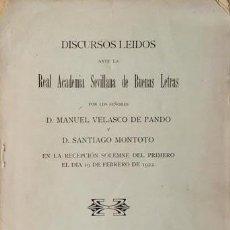 Libros antiguos: VELASCO DE PANDO : EVOLUCIÓN DE LA FÍSICO-MATEMÁTICA EN EL SIGLO XIX Y LÍMITES DE SU CAMPO. (1922) . Lote 86685548