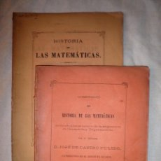 Libros antiguos: HISTORIA DE LAS MATEMATICAS - AÑO 1880 - MUY RAROS.. Lote 87421260