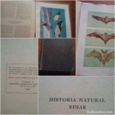 Libros antiguos: HISTORIA NATURAL EDIAR CON 68 LAMINAS CROMOGRAFIAS MAMIMEROS SUD AMERICANOS ARGENTINA EDITORES 1940. Lote 88352468