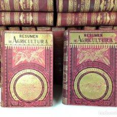 Libros antiguos: RESUMEN DE AGRICULTURA. 21 TOMOS. VARIOS AUTORES. LIBRERÍA CATÓLICA. 1889/1912.. Lote 89262048