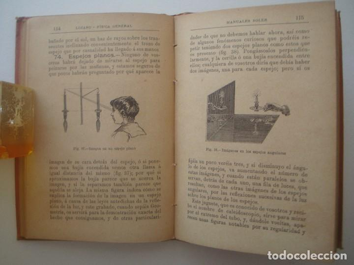Libros antiguos: LOZANO. FÍSICA. 1900. MANUALES SOLER. ILUSTRADO CON GRABADOS. - Foto 2 - 89749904