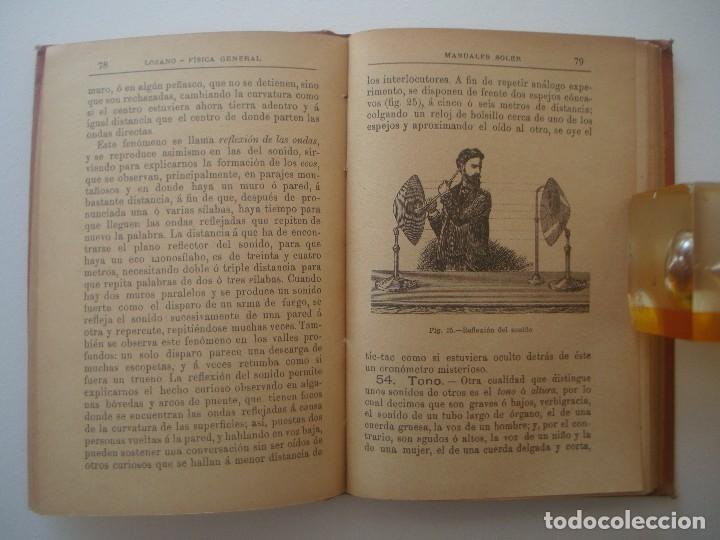 Libros antiguos: LOZANO. FÍSICA. 1900. MANUALES SOLER. ILUSTRADO CON GRABADOS. - Foto 3 - 89749904