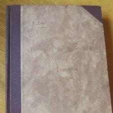 Libros antiguos: PRINCIPIOS DE AGRICULTURA. TÉCNICA AGRÍCOLA E INDUSTRIAL Y ECONÓMICA. BERTOLOME DARDER. 1935. Lote 89830668