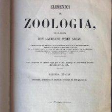 Libros antiguos: ELEMENTOS DE ZOOLOGIA - LAUREANO PEREZ ARCAS - 1863. Lote 90460129