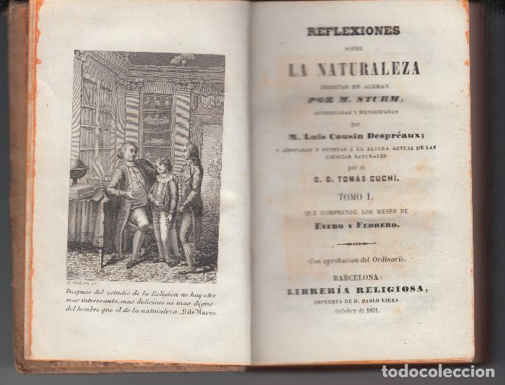 REFLEXIONES SOBRE LA NATURALEZA M.STURM L.COUSIN BARCELONA 1851 SEIS TOMOS COMPLETA (Libros Antiguos, Raros y Curiosos - Ciencias, Manuales y Oficios - Bilogía y Botánica)