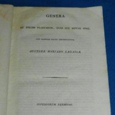 Libros antiguos: (MF) MARIANO LAGASCA - GENERA ET SPECIES PLANTARUM, QUAE AUT NOVAE SUNT, BOTANICA 1816. Lote 90995035