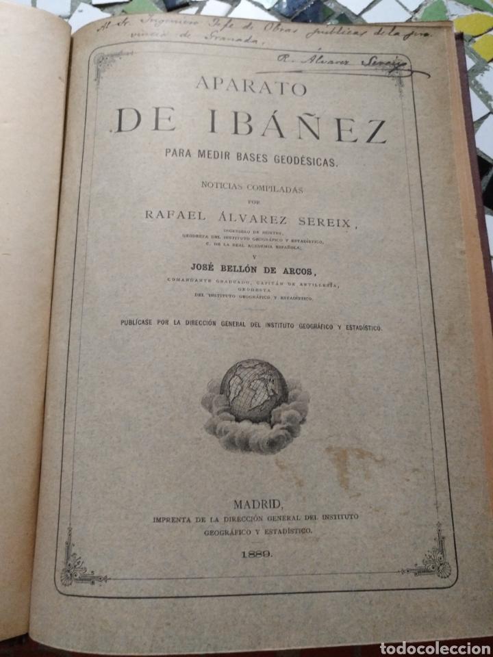 APARATO DE IBÁÑEZ. PARA MEDIR BASES GEODÉSICAS. RAFAEL ÁLVAREZ SEREIX. AÑO 1889 (Libros Antiguos, Raros y Curiosos - Ciencias, Manuales y Oficios - Paleontología y Geología)