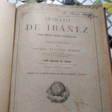 Libros antiguos: APARATO DE IBÁÑEZ. PARA MEDIR BASES GEODÉSICAS. RAFAEL ÁLVAREZ SEREIX. AÑO 1889. Lote 91161505
