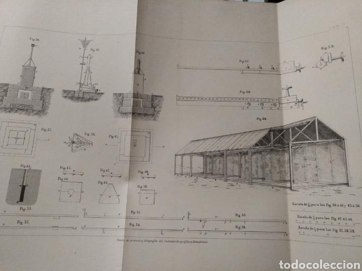 Libros antiguos: Aparato de Ibáñez. Para medir bases Geodésicas. Rafael Álvarez Sereix. Año 1889 - Foto 8 - 91161505