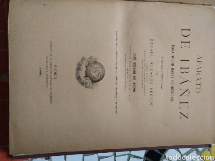 Libros antiguos: Aparato de Ibáñez. Para medir bases Geodésicas. Rafael Álvarez Sereix. Año 1889 - Foto 12 - 91161505