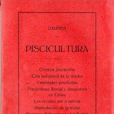 Libros antiguos: DARDER : PISCICULTURA (1913) LA SERIE COMPLETA DE OCHO LIBRITOS. Lote 91322360
